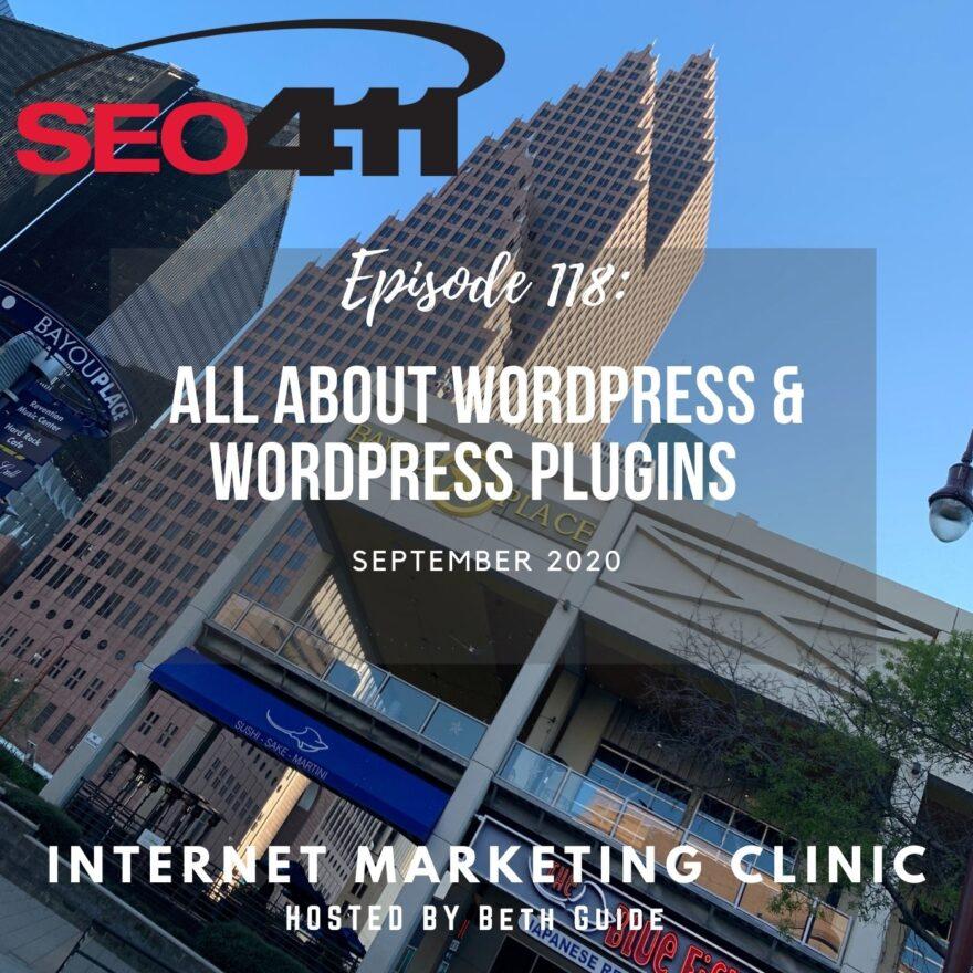 ep118 SEO411 Internet Marketing Clinic 118: WordPress Plugins | RankMath vs Yoast