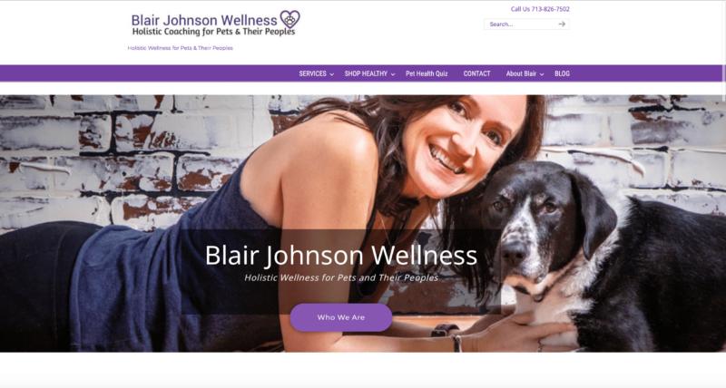 Blair Johnson Wellness Web Design Homepage